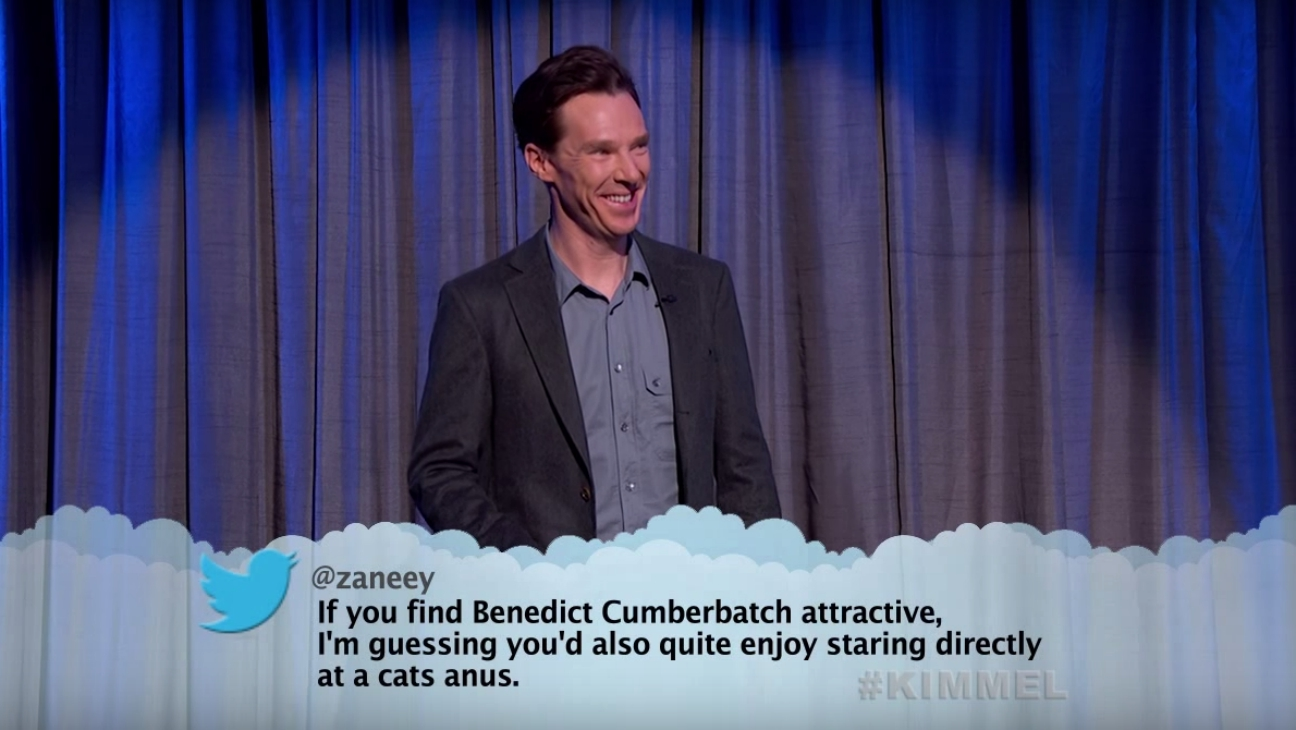 Benedict Cumberbatch Mean Tweets — H 2015