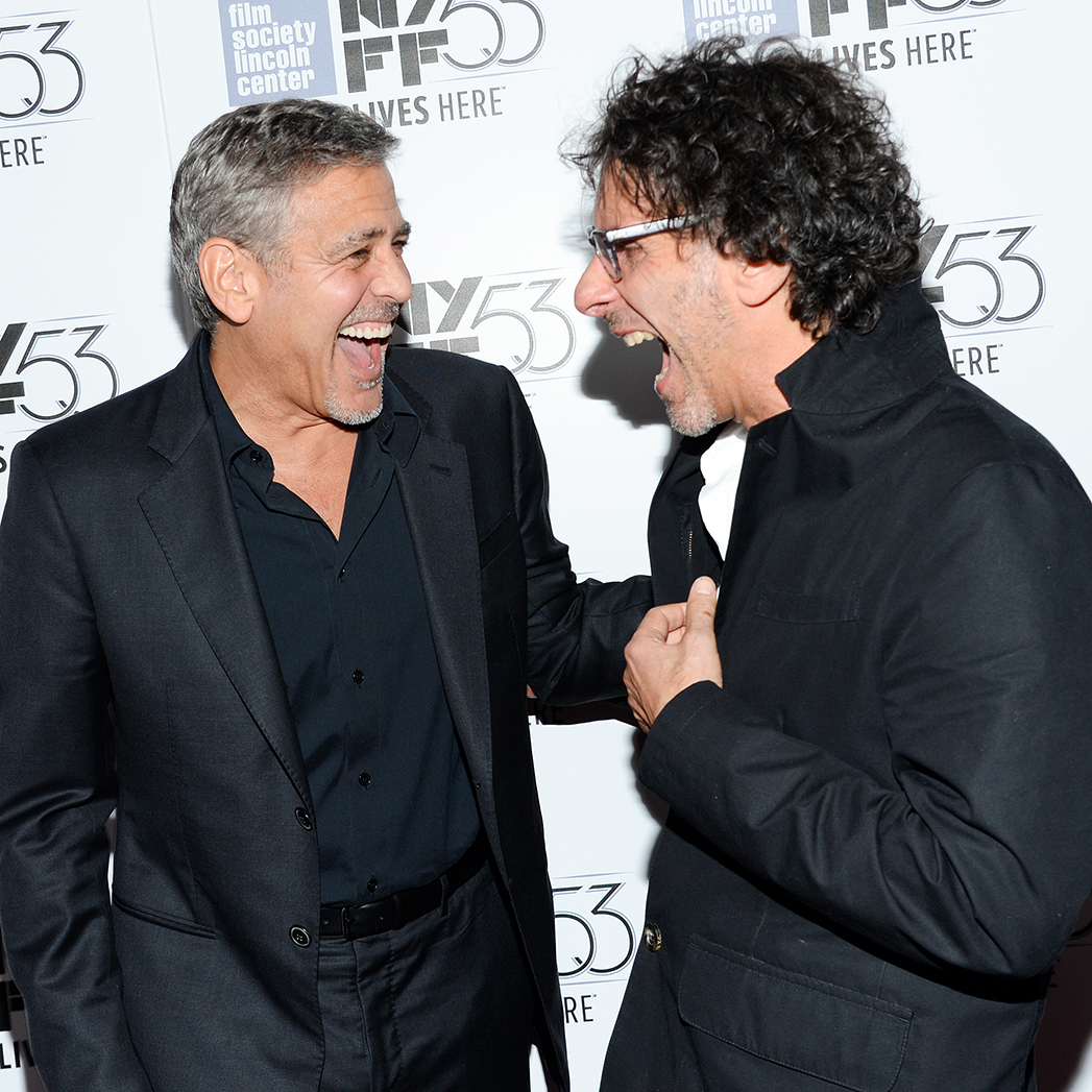 George Clooney Joel Coen NYFF S 2015