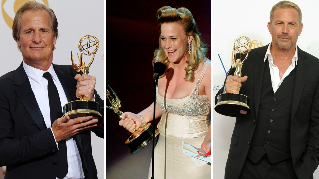 Jeff Daniels Patricia Arquette and Kevin Costner Worst Emmy Split - 2015