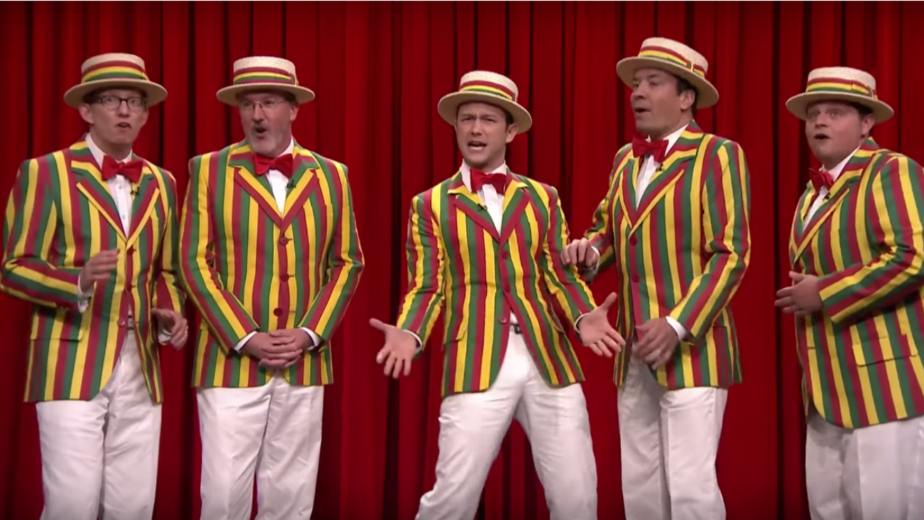 Joseph Gordon-Levitt in Jimmy Fallon Barbershop Quartet — H 2015