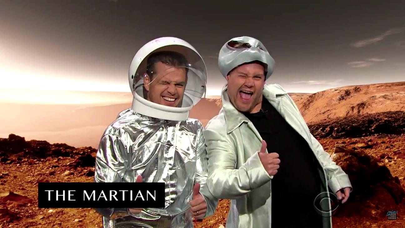 Matt Damon James Corden Career H 2015