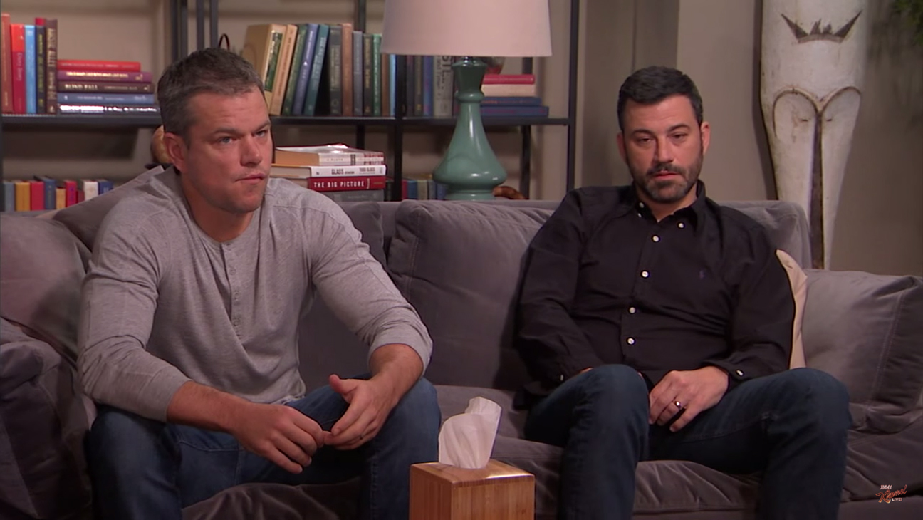 Matt Damon Jimmy Kimmel Therapy H 2015