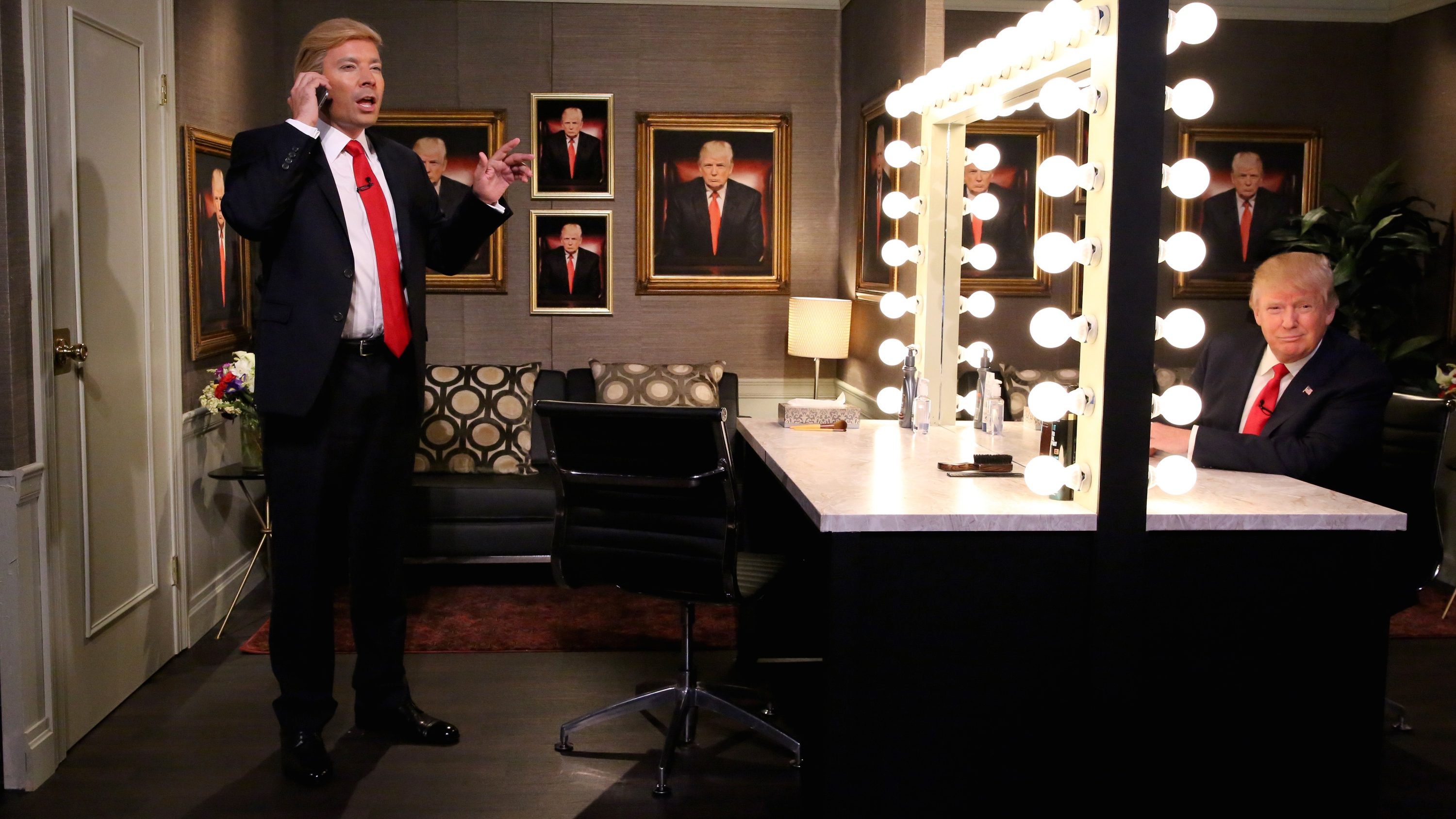 Jimmy Fallon and Donald Trump on 'The Tonight Show' - H 2015