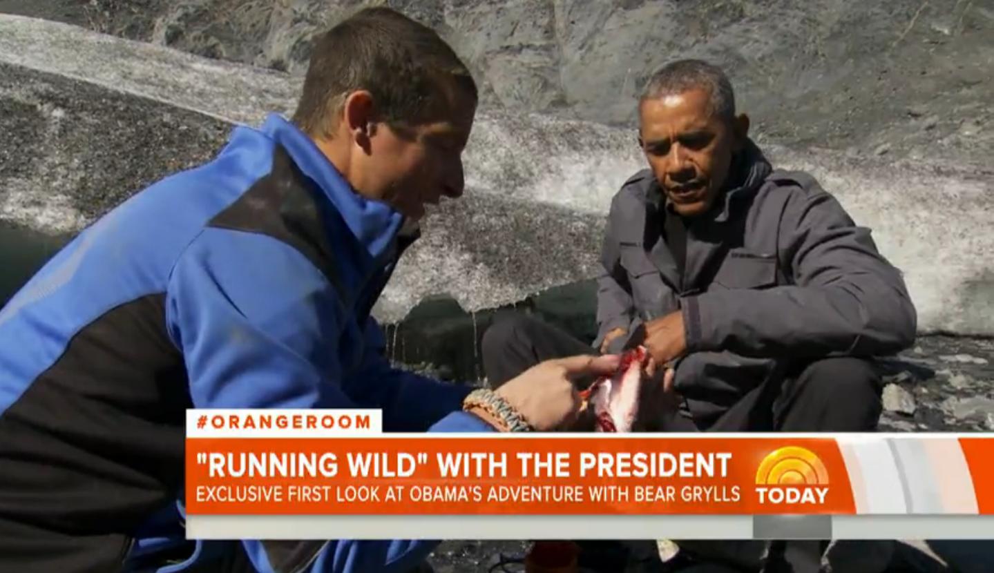 Obama and Bear Grylls on 'Running Wild' - H 2015
