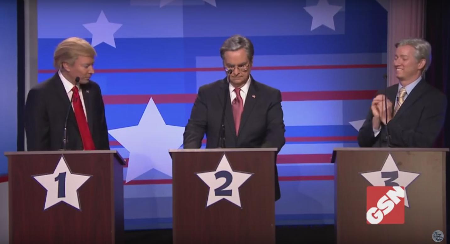 """'Tonight Show' """"Debating Game"""" Sketch - H 2015"""