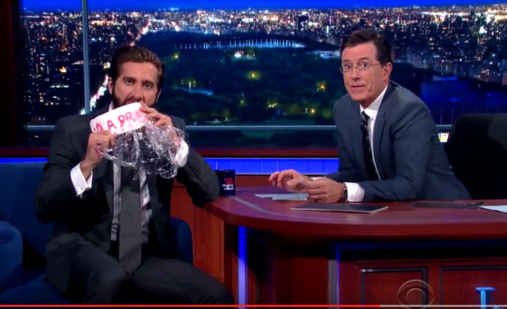 Stephen Colbert and Jake Gyllenhaal - H 2015
