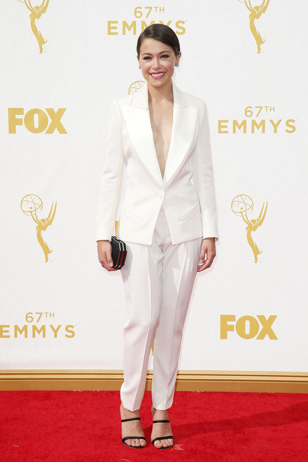 Tatiana Maslany Emmys Arrival - P 2015