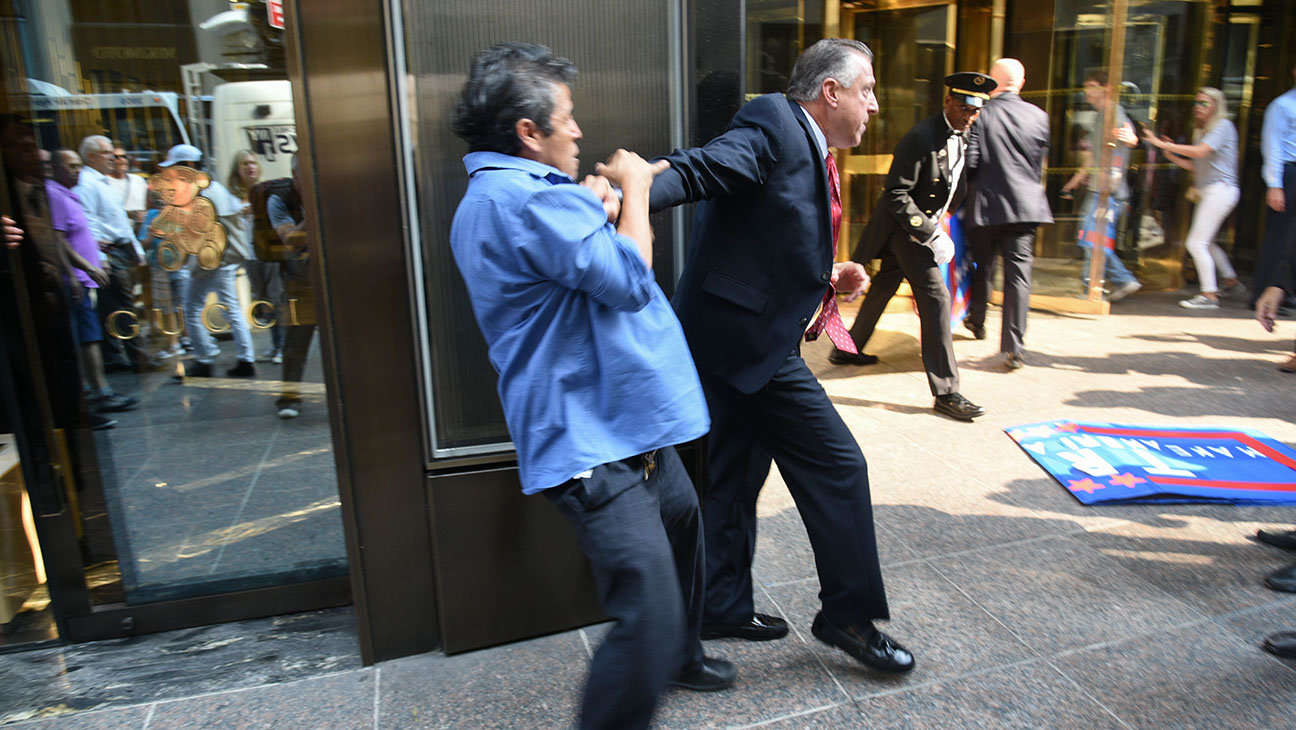 Trump Tower Security Scuffle - H 2015