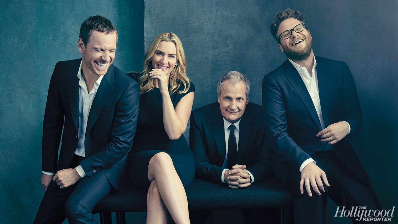 "<p>From left: <strong>Michael <span data-scayt_word=""Fassbender"" data-scaytid=""11"">Fassbender</span></strong>, <strong>Kate <span data-scayt_word=""Winslet"" data-scaytid=""12"">Winslet</span></strong>, <strong>Jeff Daniels</strong> and <strong>Seth <span data-scayt_word=""Rogen"" data-scaytid=""13"">Rogen</span></strong> were photographed Sept. 26 at the <span data-scayt_word=""Corinthia"" data-scaytid=""1"">Corinthia</span> Hotel in London for <em>The Hollywood Reporter</em>&#39&#x3B;s Oct. 16 cover.</p>"