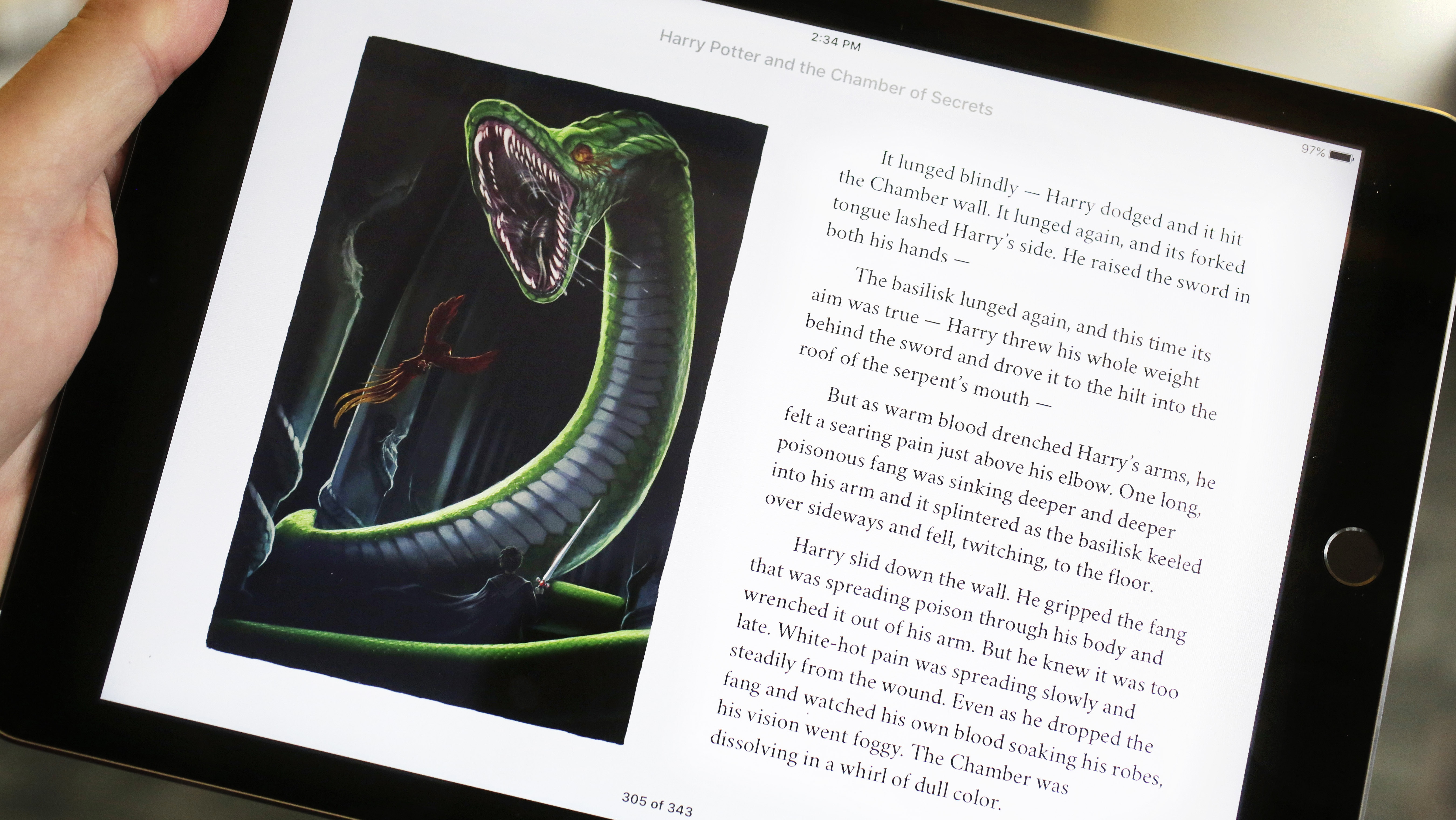 Enhanced Apple 'Harry Potter' E-Book - H 2015