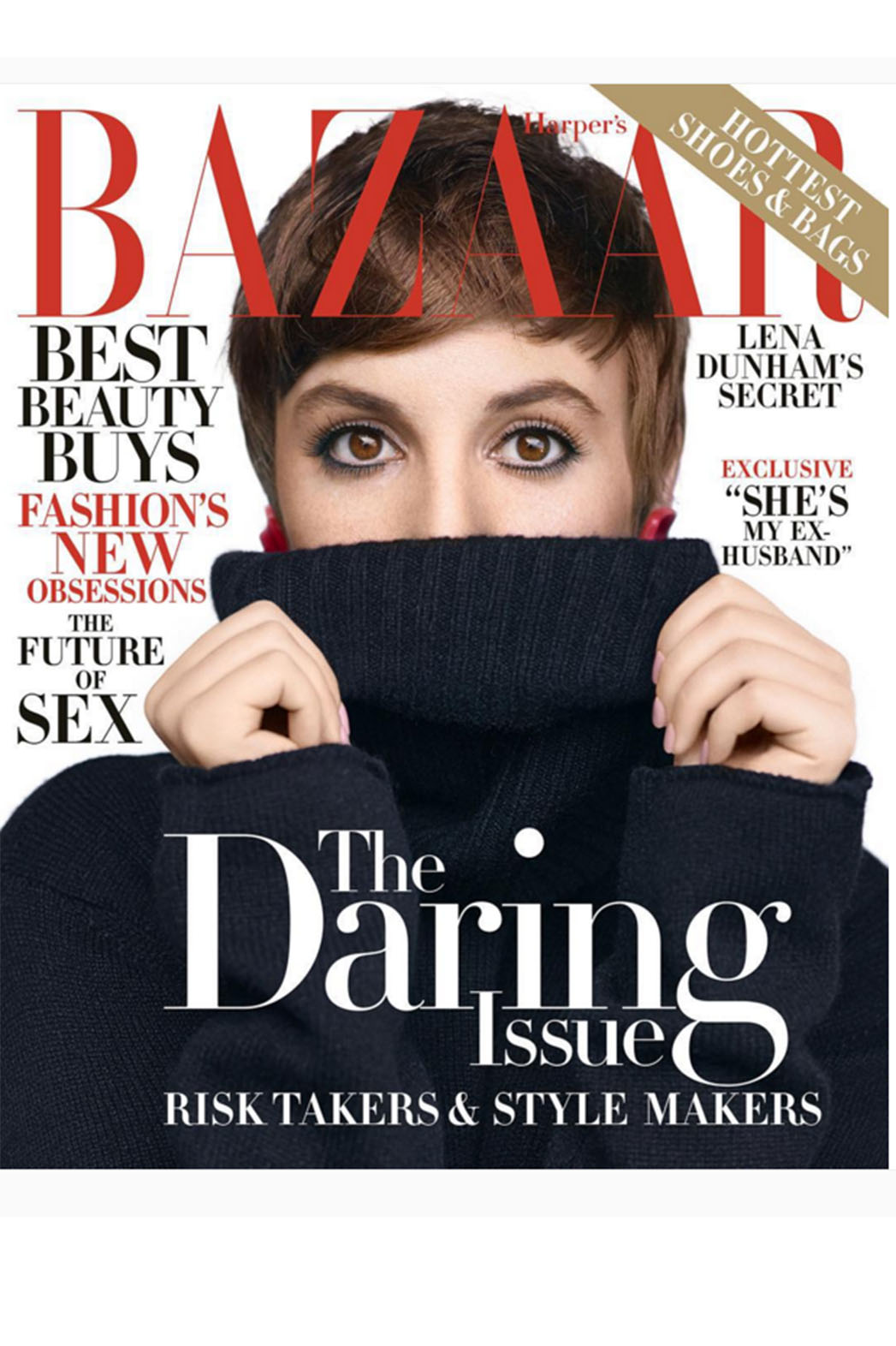 Lena Dunham's Harper's Cover Screen Shot- H 2015
