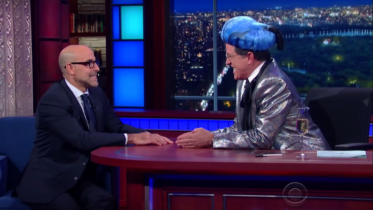 Stephen Colbert and Stanley Tucci — h 2015