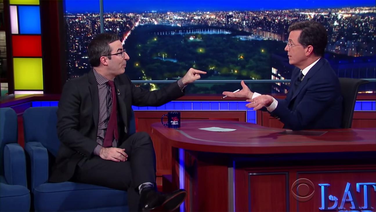 John Oliver Stephen Colbert H 2015