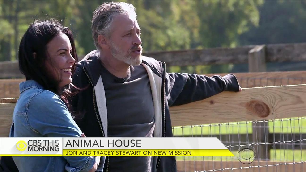 Jon_Stewart_Tracey_Stewart_Interview Screengrab - H 2015
