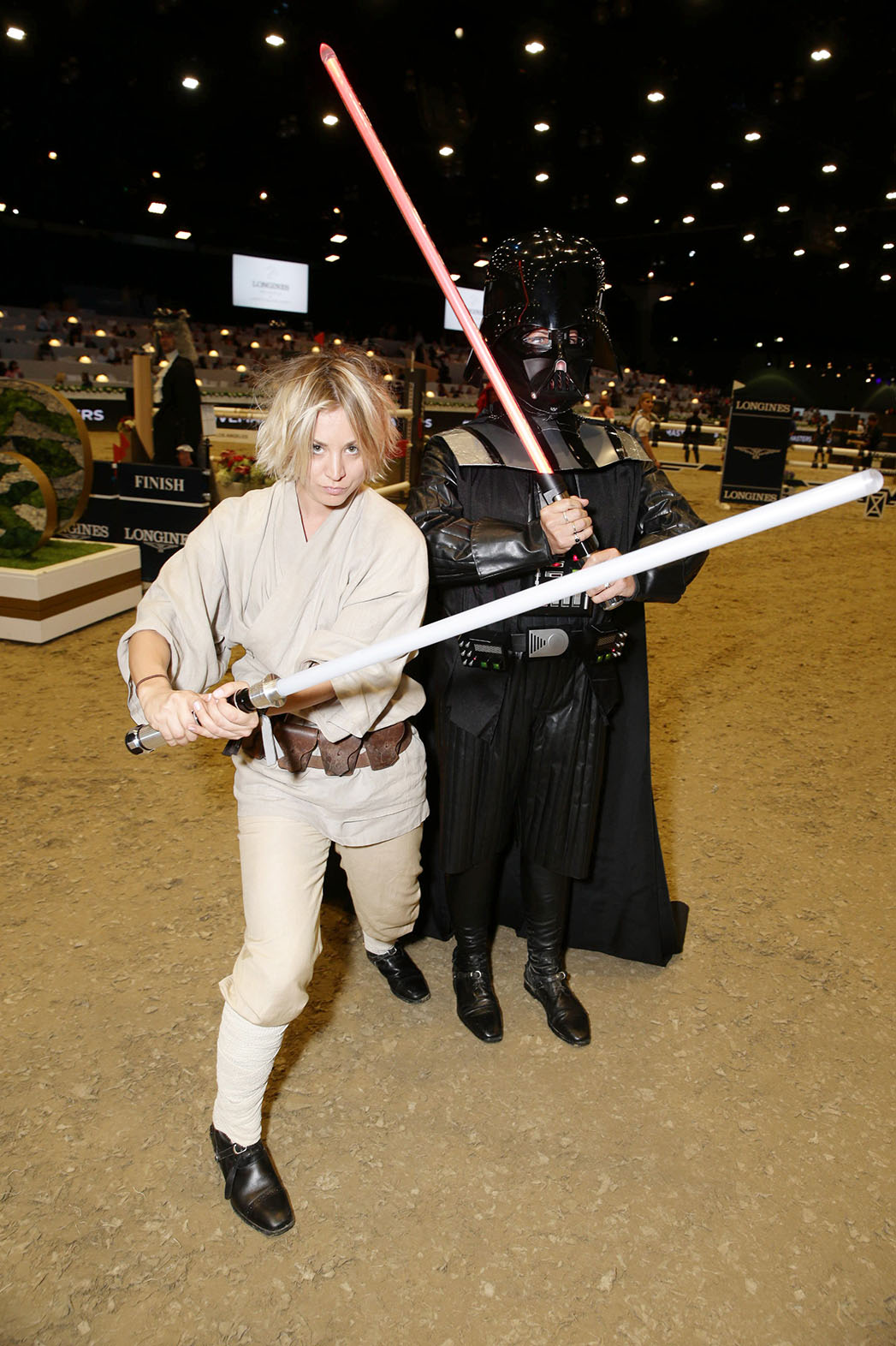Kaley Cuoco Tracey Wade Lightsabers - P 2015