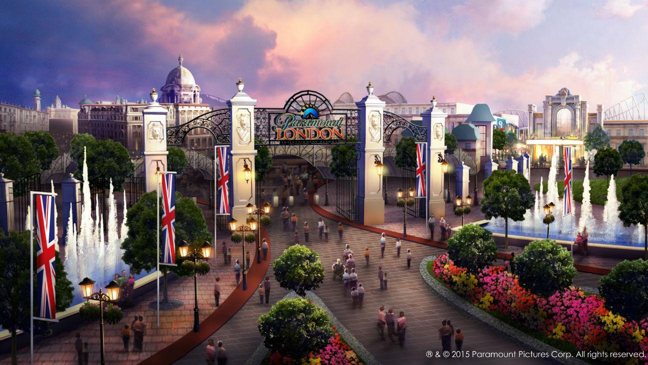 London Paramount resort entrance rendering - H 2015