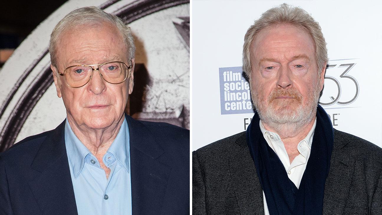 Michael Caine Ridley Scott Split - H 2015