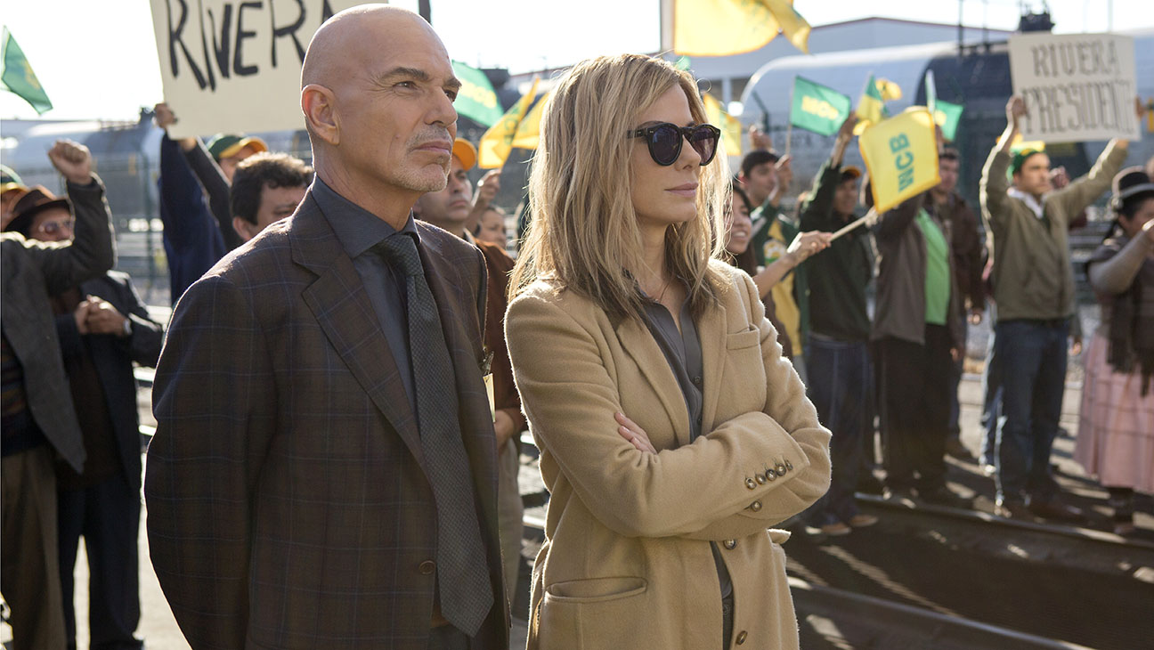 Our Brand is Crisis Billy Bob Thornton and Sandra Bullock Still 1 - H 2015