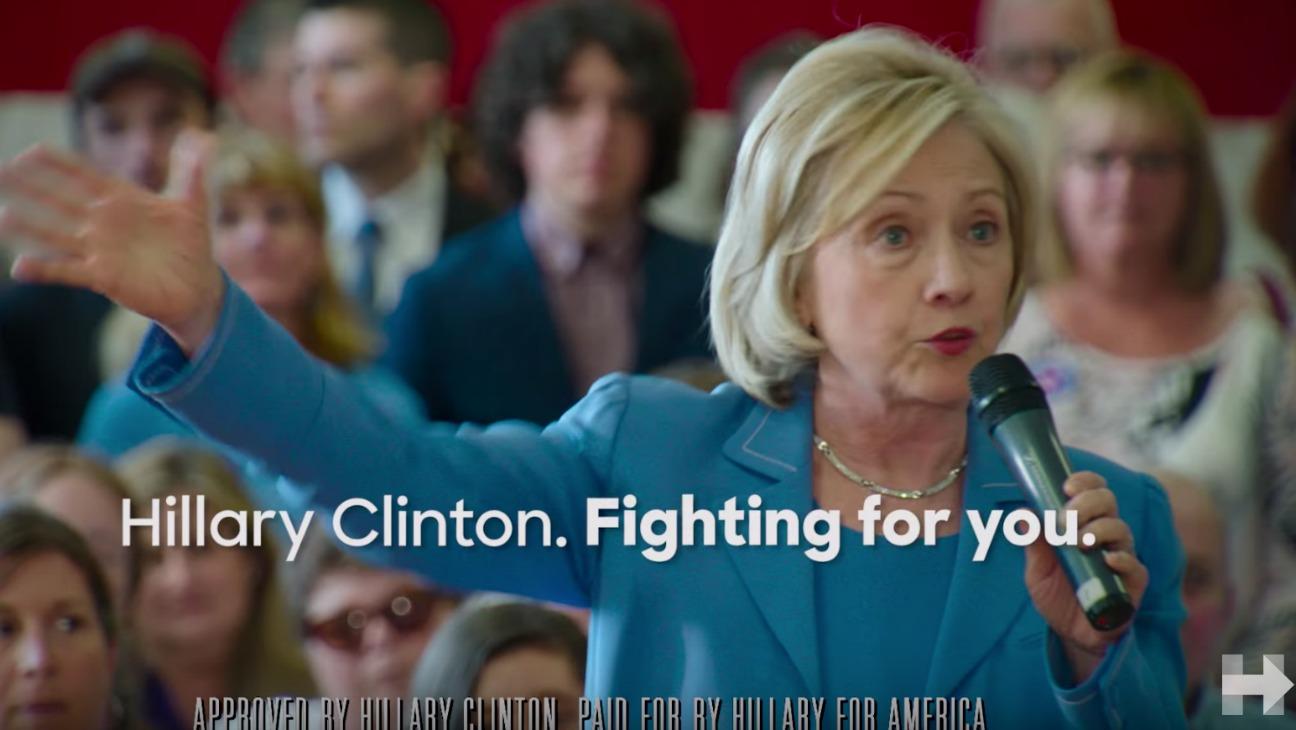 Hillary Clinton Campaign Ad Still - H 2015