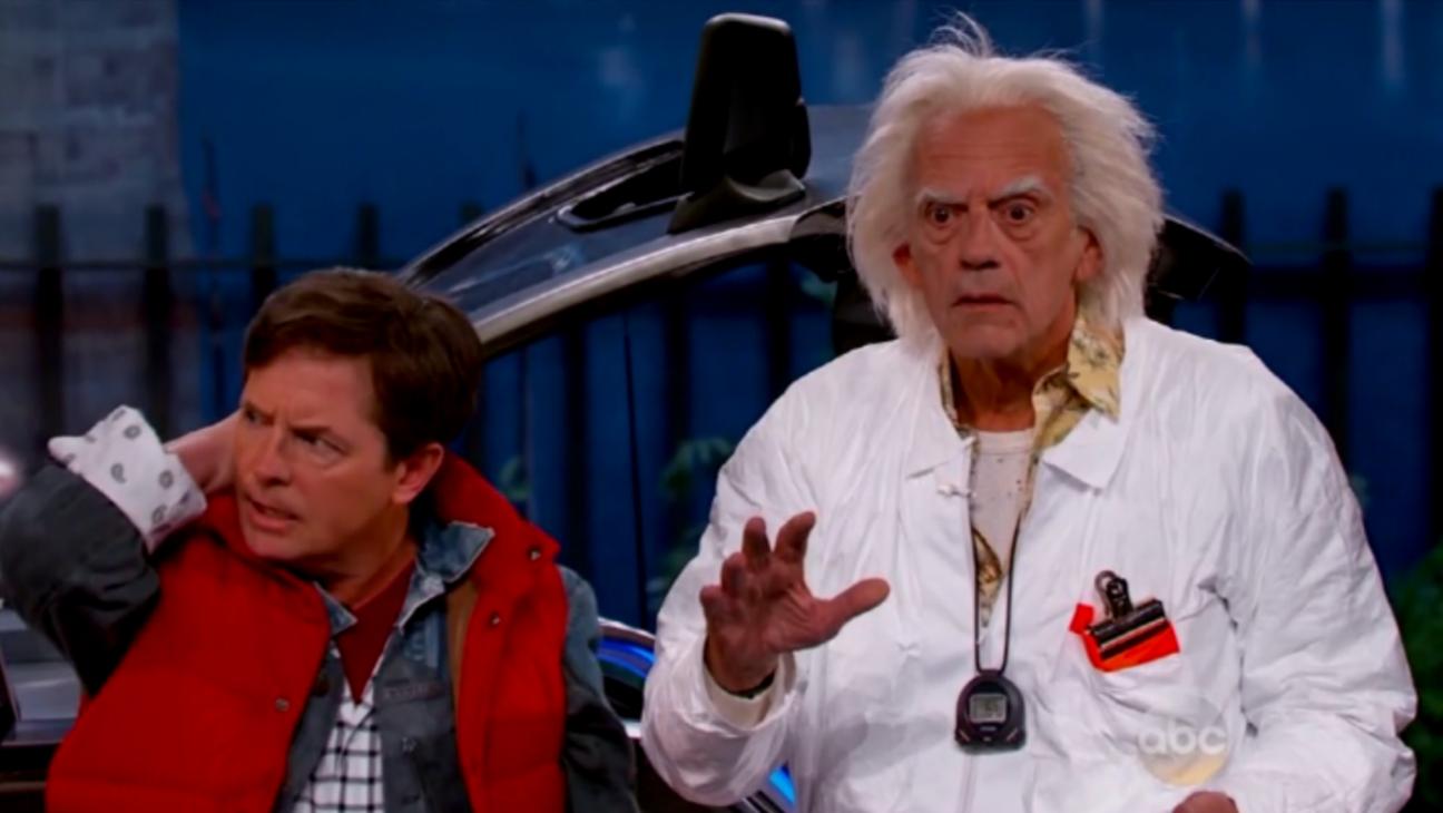 Kimmel Marty McFly Doc Brown Still - H 2015