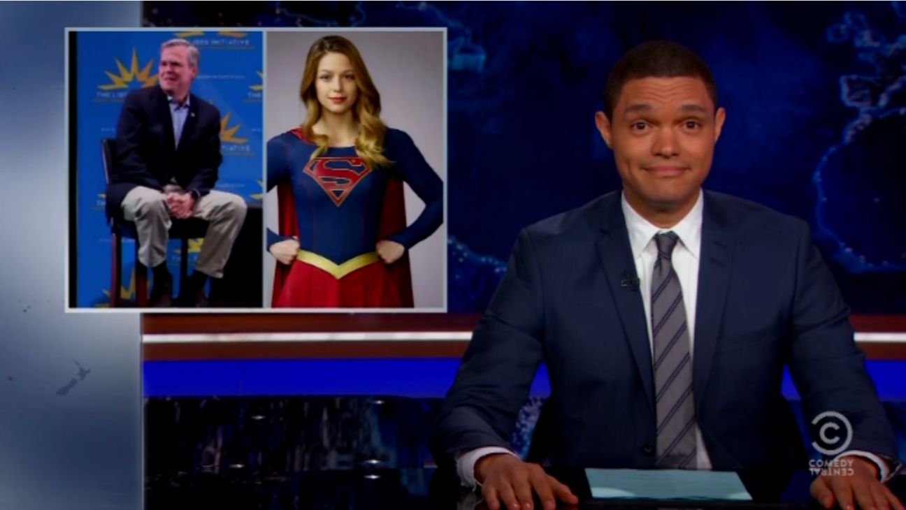 Daily Show Supergirl Jeb Bush - H 2015