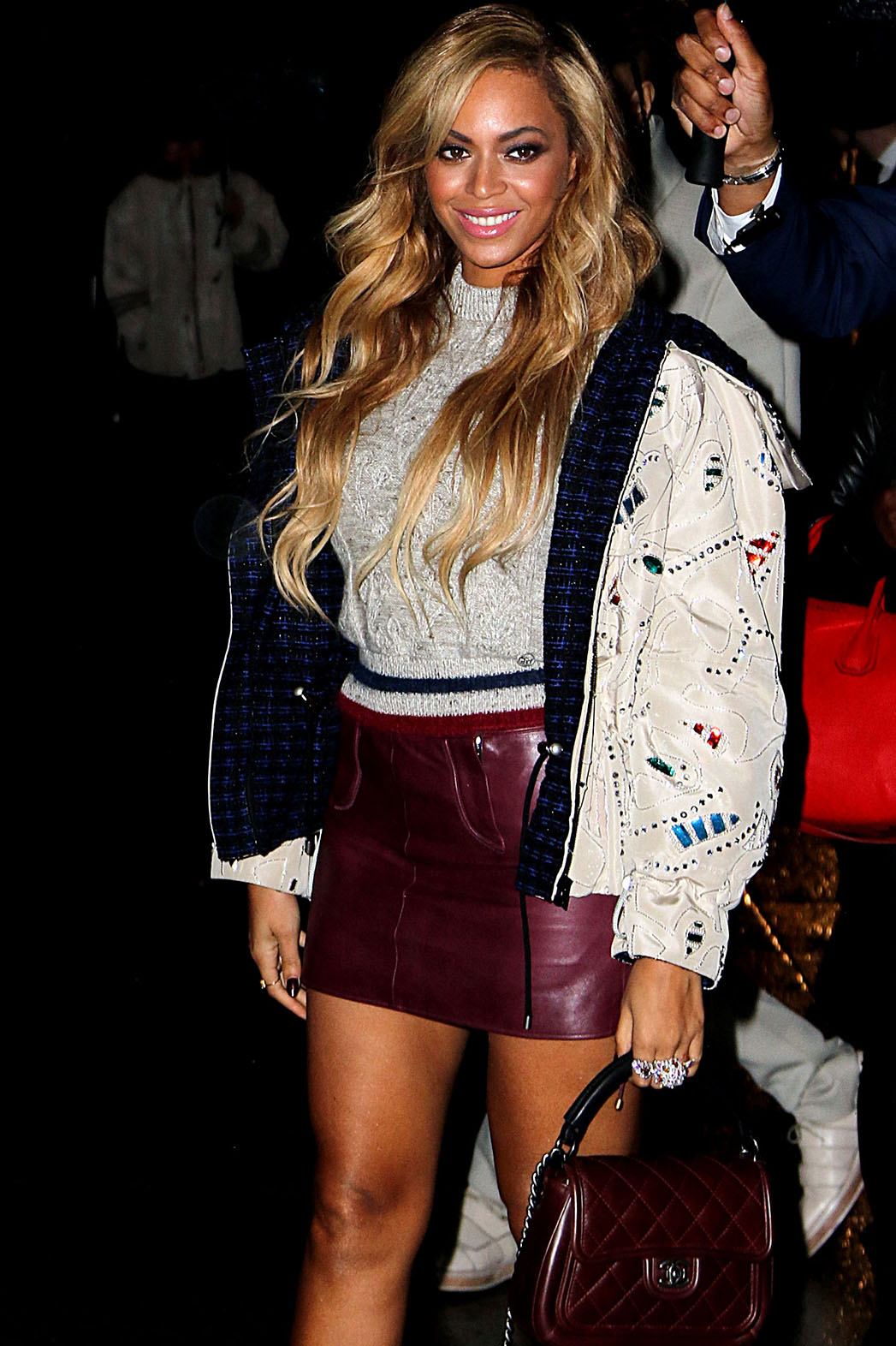Beyonce arrives at a Chanel Fashion Show - P 2015