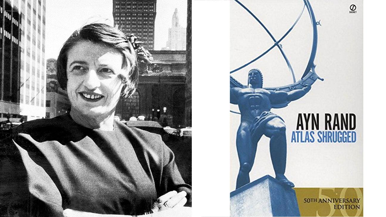 Ayn Rand and Book Atlas Shrugged - H 2015