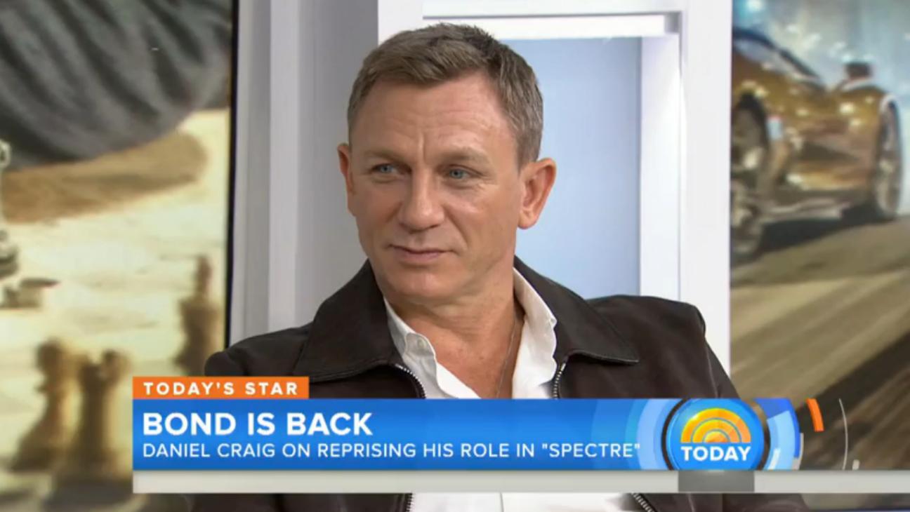 Daniel Craig on Today — H 2015