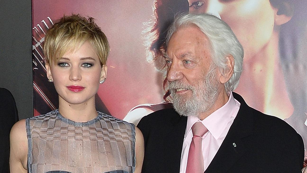 Jennifer Lawrence and Donald Sutherland - H 2015