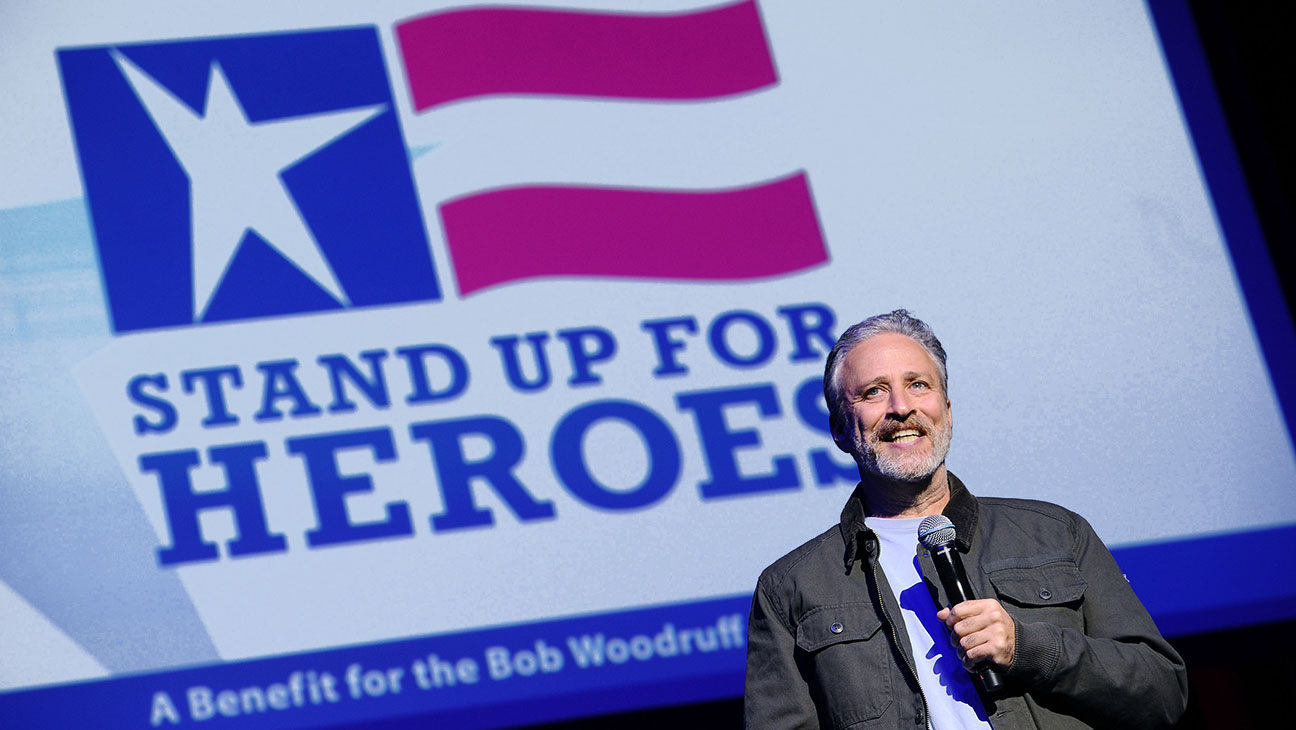 Jon Stewart performs on stage 9th Annual Stand Up For Heroes Event  - H 2015
