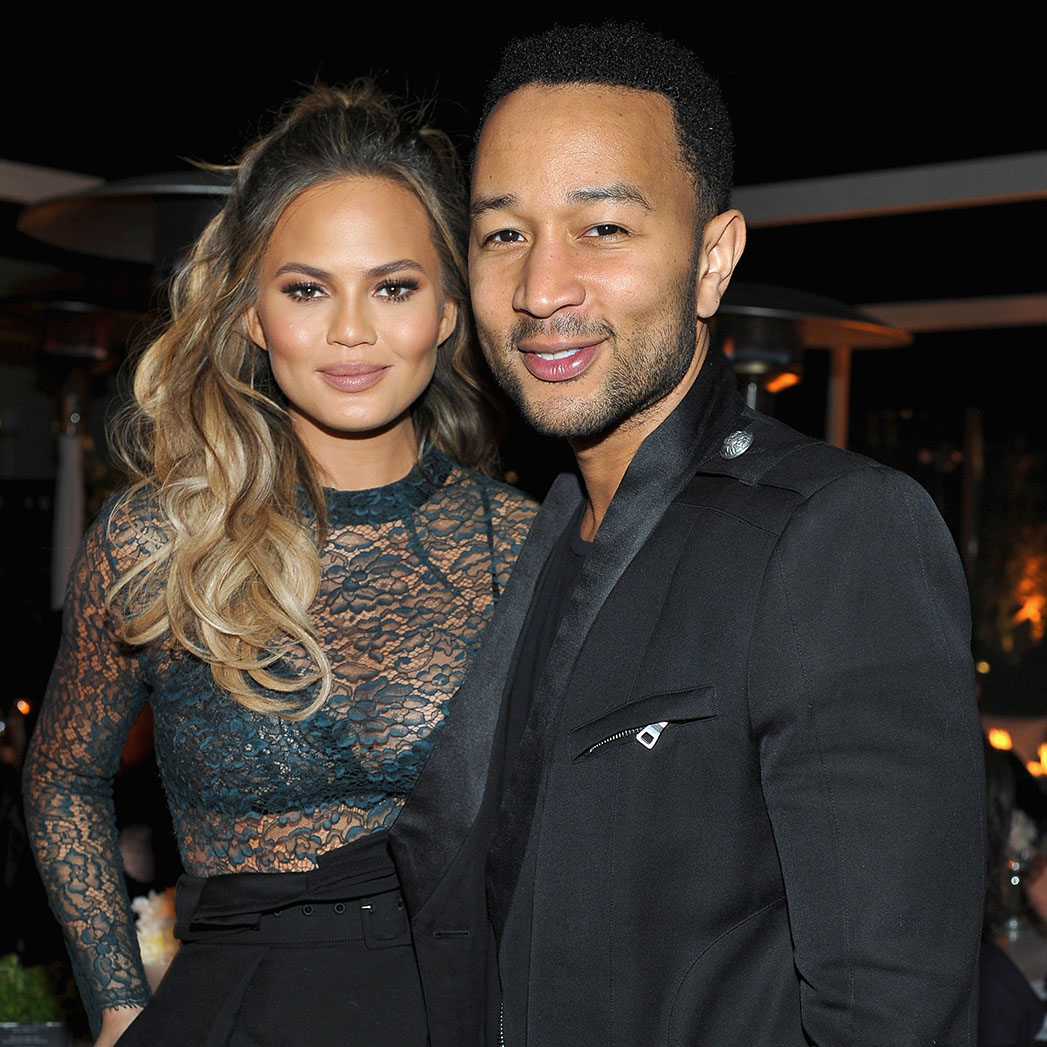Chrissy Teigen and John Legend attend The Hollywood Reporter's Beauty Dinner - sq 2015