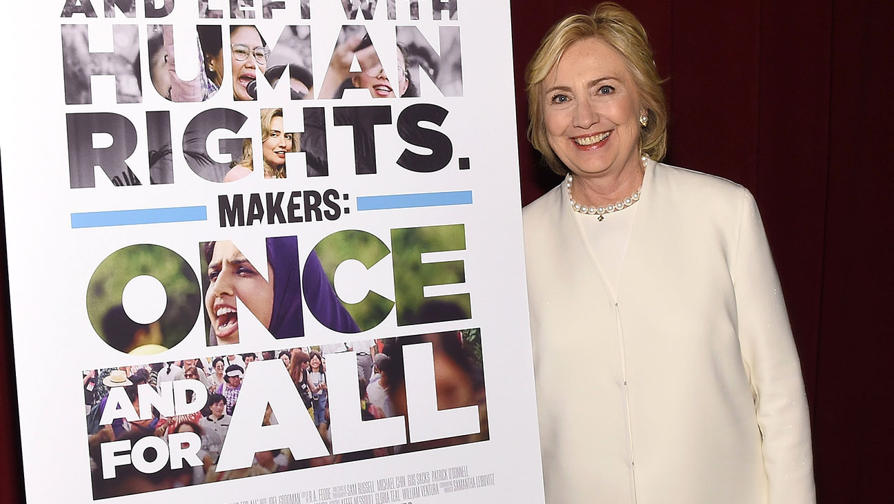 Hillary Clinton attends AOL's MAKERS: Once And For All Premiere at the DOC NYC - H 2015