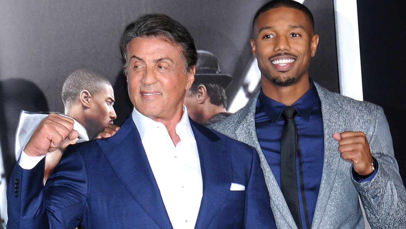 Sylvester Stallone and Michael B Jordan Premiere of Creed - H 2015