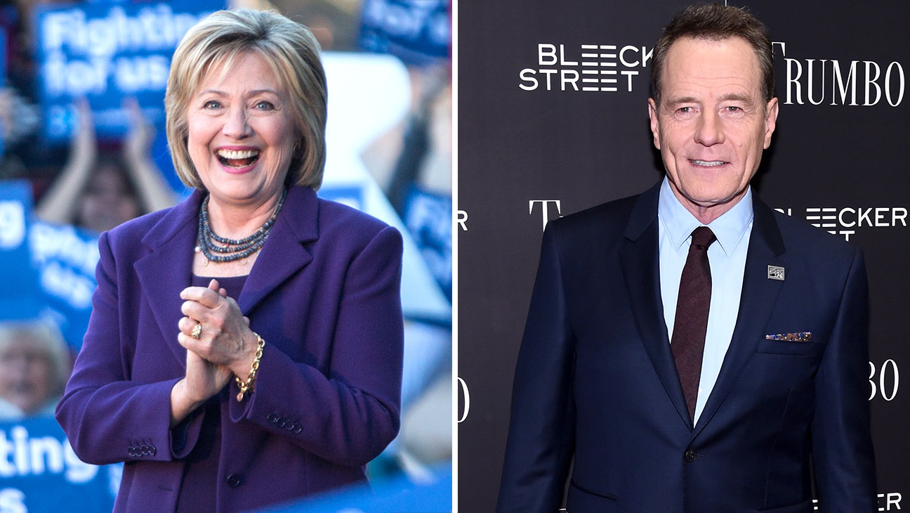 Hillary Clinton Bryan Cranston split - H 2015
