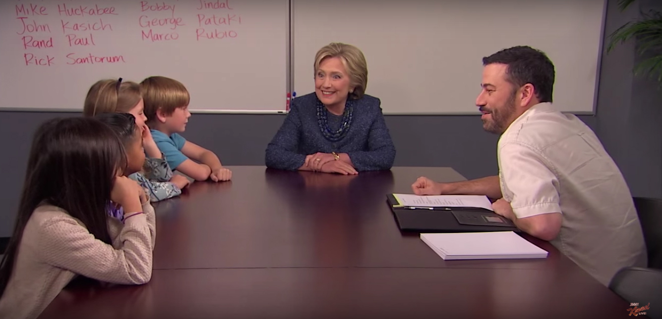 Hillary Clinton and Jimmy Kimmel - H 2015