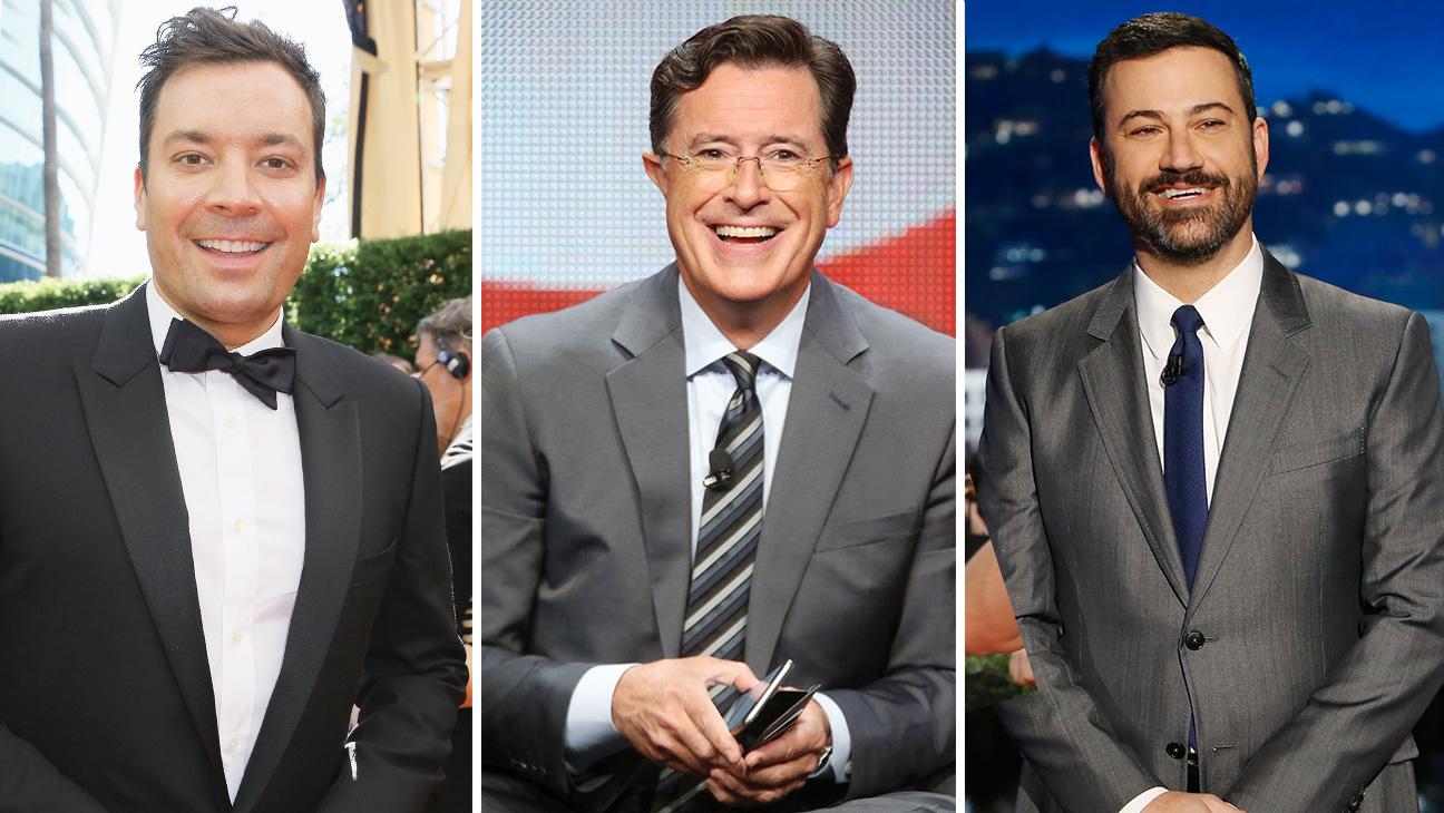 Jimmy Fallon, Stephen Colbert and Jimmy Kimmel - H 2015