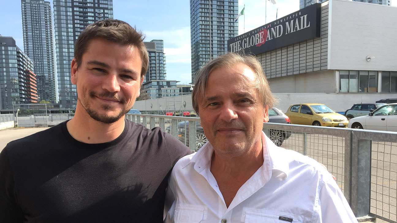 Josh Hartnett and Victor Malarek - H 2015