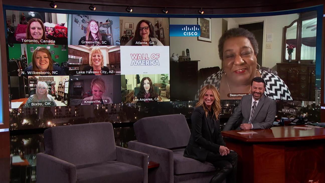 Julia Roberts Jimmy Kimmel H 2015