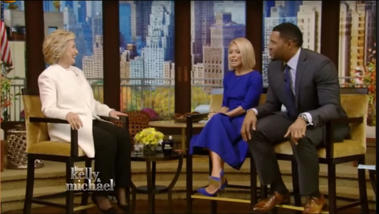 LIVE with Kelly and Michael Interviews Hillary Clinton Screen Shot- H 2015