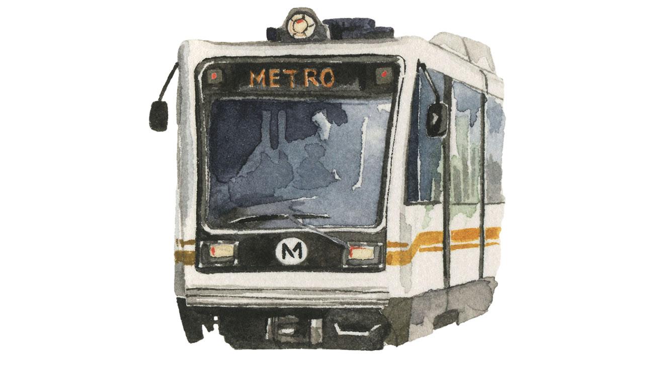 Metro Train Illo - H 2015