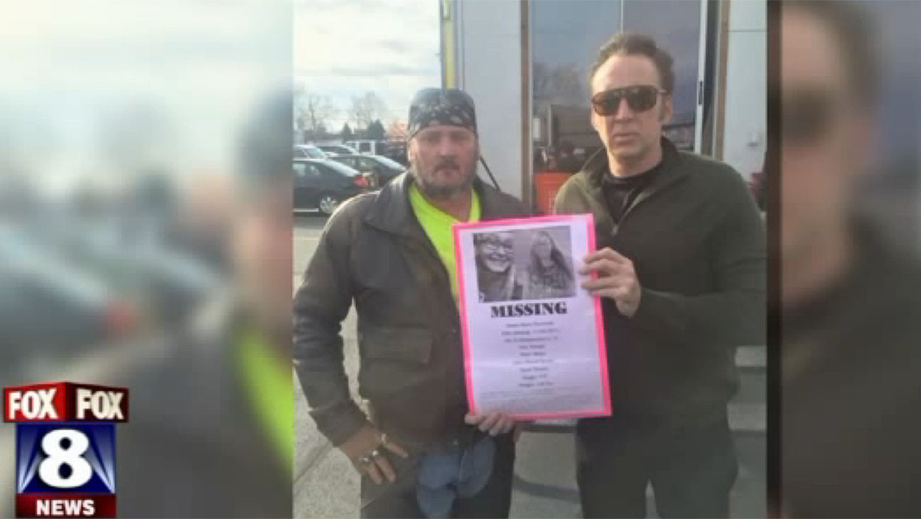 Nicolas Cage photo of flyer of missing girl Screen Shot - H 2015