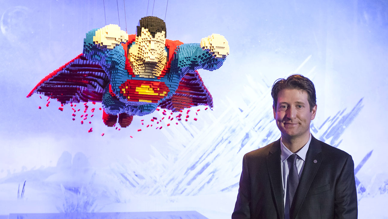 Lego Superman and Nathan Sawaya - H 2015