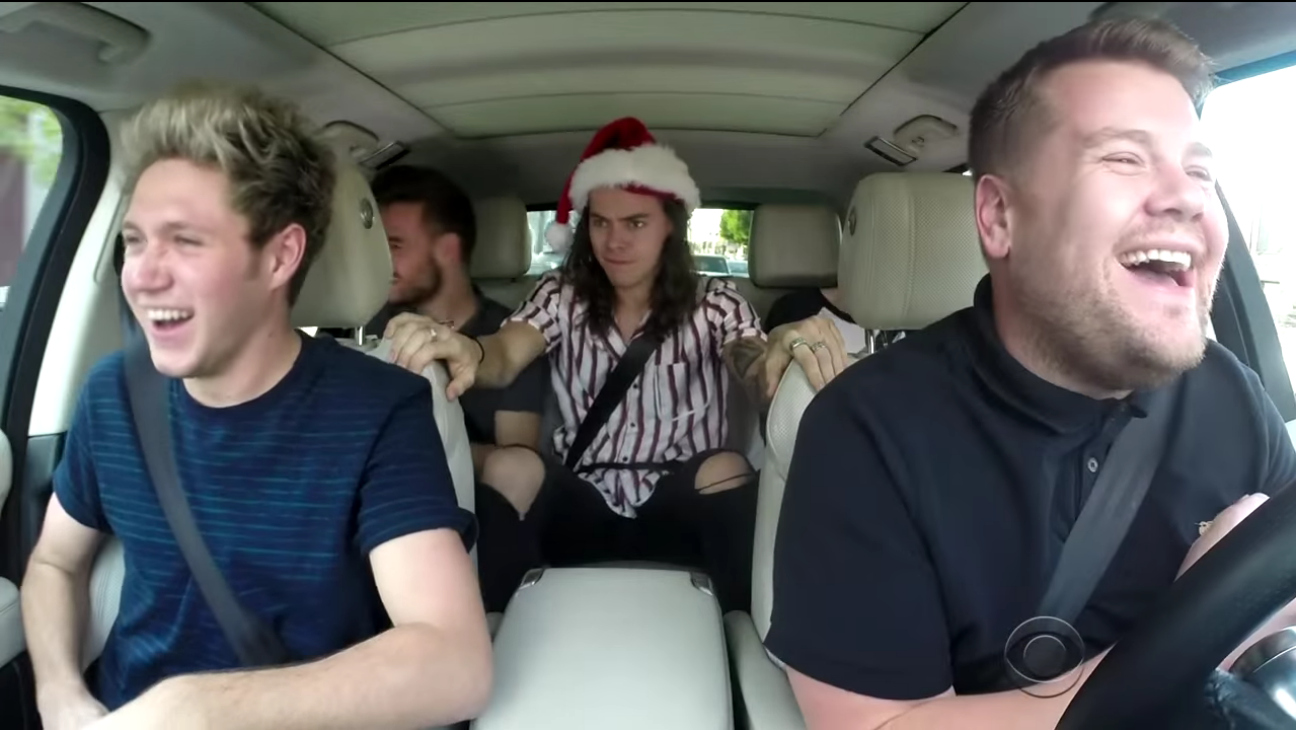 James Corden and One Direction Christmas Karaoke — H 2015