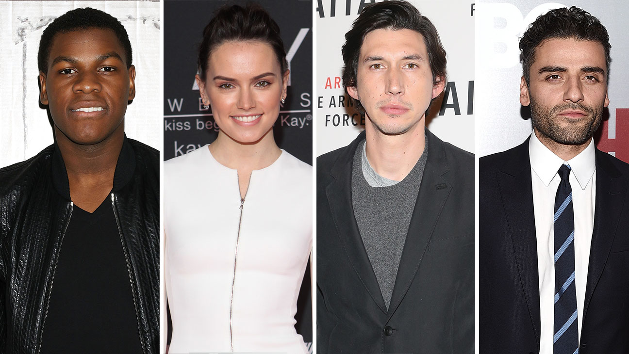 John Boyega, Daisy Ridley, Adam Driver, Oscar Isaac Split - H 2015
