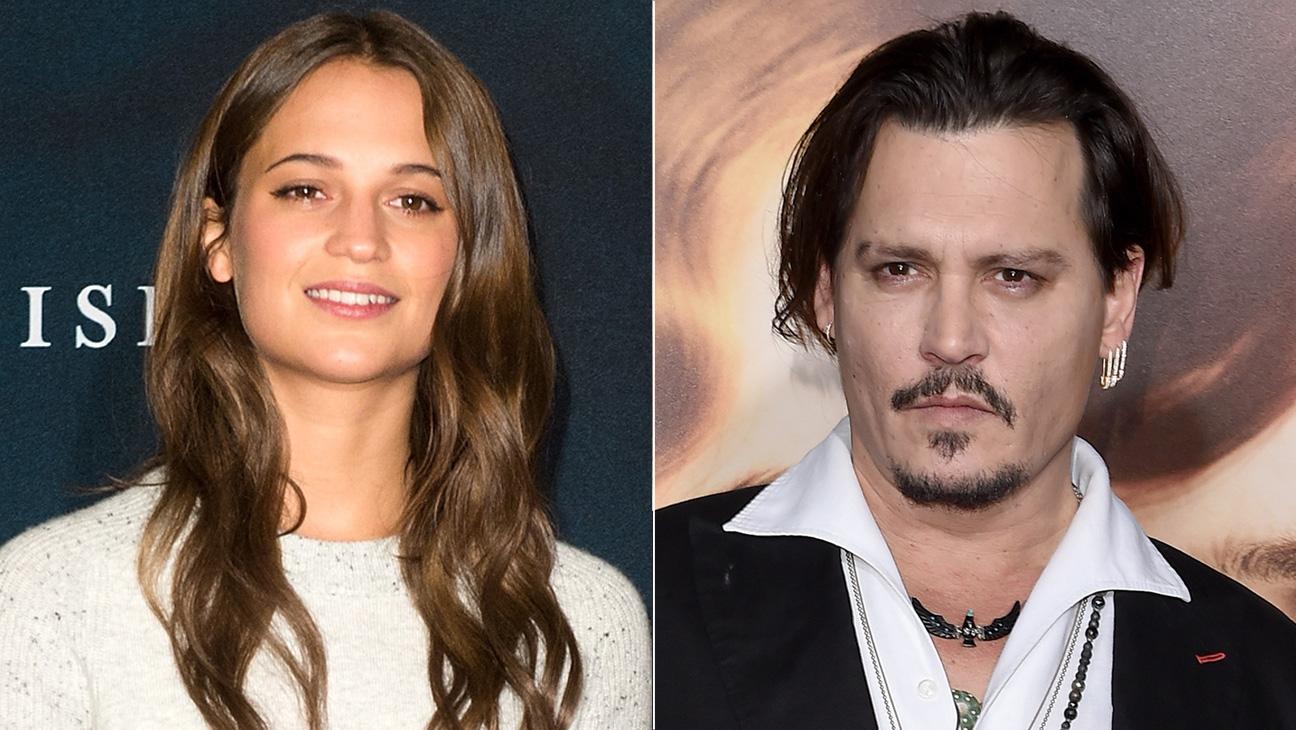 Alicia Vikander and Johnny Depp Split - H 2015