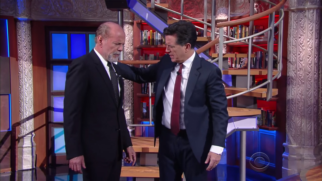 Bruce Willis Stephen Colbert Late Show H 2015