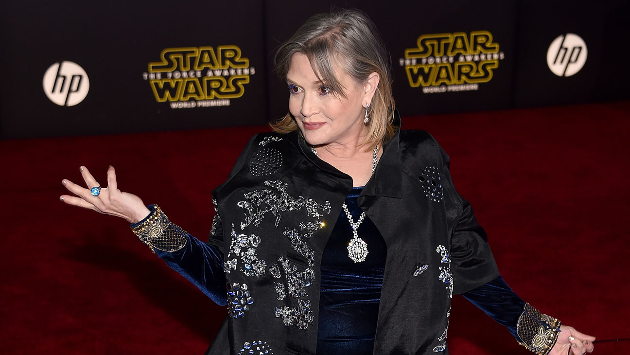 Carrie Fisher Star Wars Premiere - H 2015