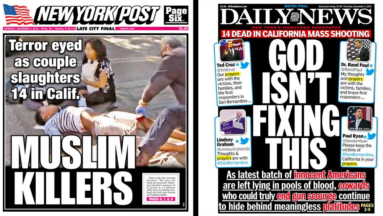 ny daily news and the ny post covers Split - H 2015