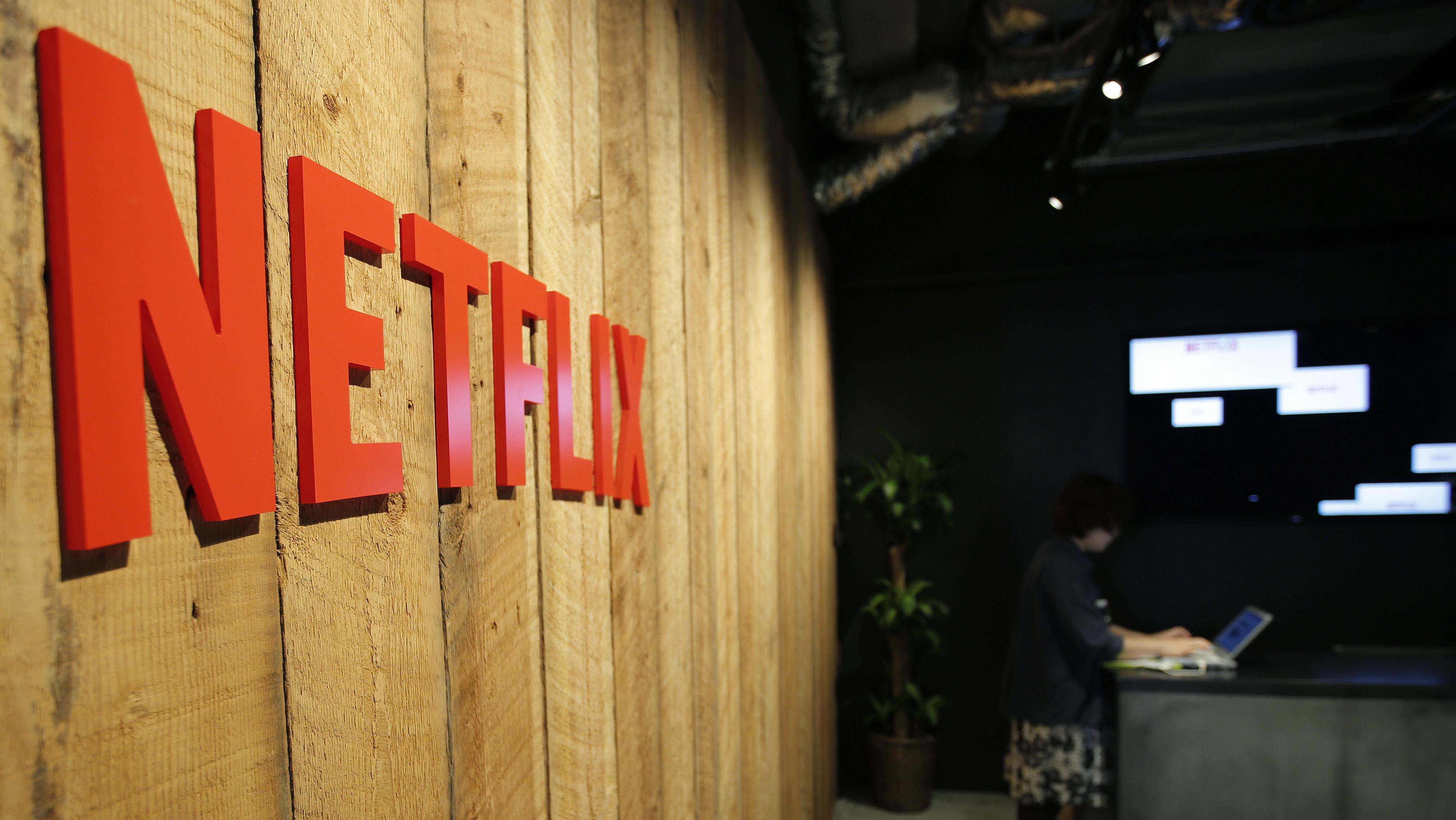 Netflix sign  - H 2015