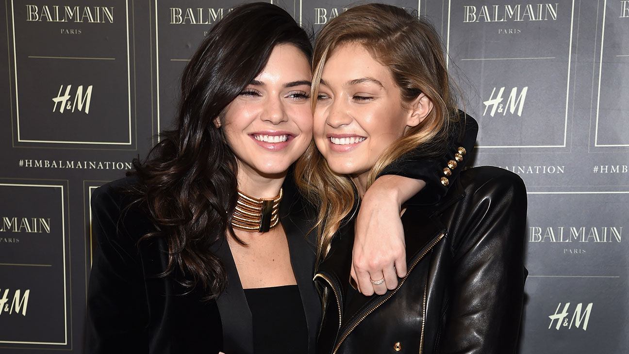 Kendall Jenner and Gigi Hadid  BALMAIN X H&M Collection Launch - H 2015